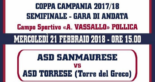La Sanmaurese sfida la Torrese: domani il primo round