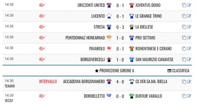 DIRETTA LIVE - Serie D, Eccellenza, Promozione, Prima, Seconda e Terza