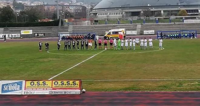 Ebolitana-Gela 0-1: i gol e le immagini del match (VIDEO)