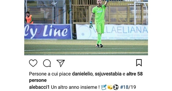 Juve Stabia, Alessandro Bacci rinnova il suo contratto con le vespe