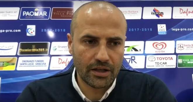L'allenatore del Siracusa Paolo Bianco