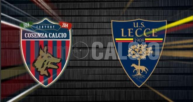 Cosenza-Lecce: le probabili formazioni