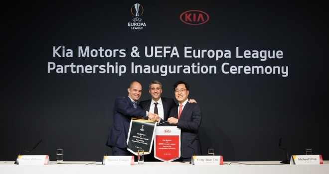 Kia Motors per 3 stagioni Official Partner della UEFA Europa League