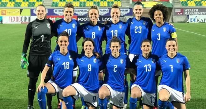 L'Italia arriva seconda alla Cyprus Cup 2018