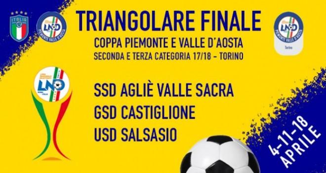Coppa Seconda e Terza Torino: sorteggiato il triangolare finale
