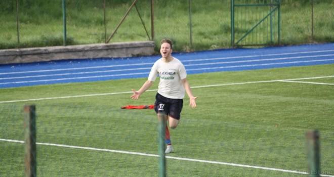 Peppe Montano dopo il gol del 4-2