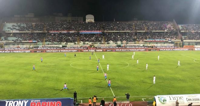 Catania-Trapani 1-2,Palumbo e Marras stendono gli etnei, granata 2'