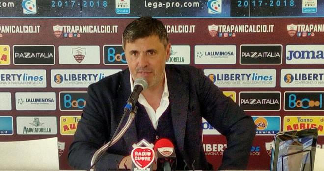 """Trapani, Calori: """"Squadra abbastanza nervosa e gol non concesso""""."""