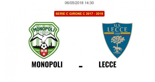 Monopoli-Lecce: le formazioni ufficiali