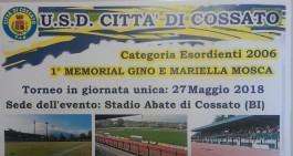 A Cossato il '1° Memorial Gino e Mariella Mosca' riservato ai 2006
