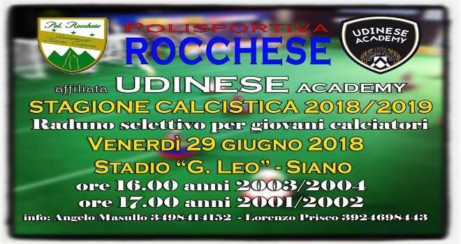 La Rocchese sceglie l'allenatore ed entra nel progetto Udinese Academy