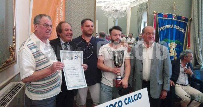 """Corno d'oro premiato dalla Figc Campania: """"Stagione eccezionale"""""""