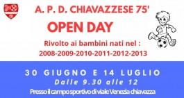 Il 30 giugno e il 14 luglio due Open Day organizzati dalla Chiavazzese