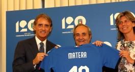 Inaugurata la mostra dei 120 anni della FIGC a Matera col ct Mancini