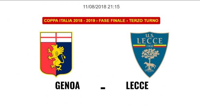 Genoa-Lecce, formazioni ufficiali