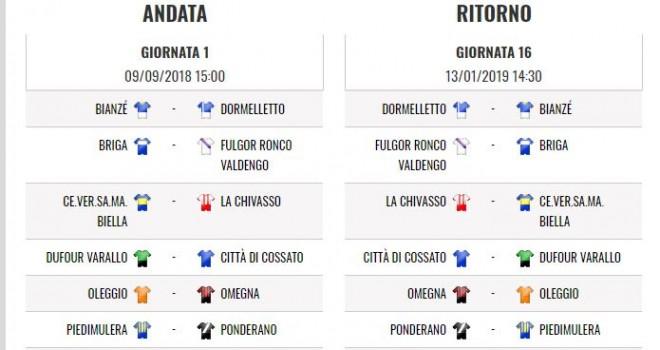 Calendario Promozione Girone A.Promozione Ecco Il Calendario 2018 19 I Am Calcio Novara