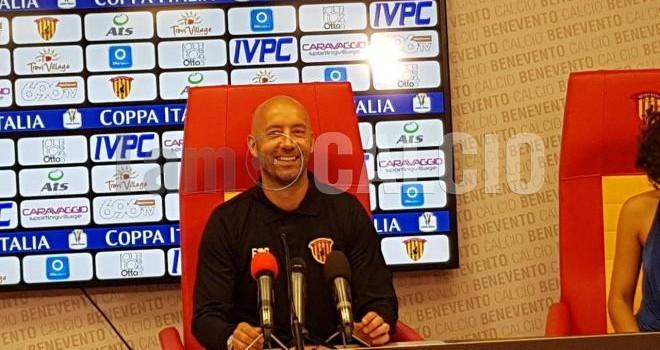 """Benevento. Bucchi: """"Crisetig? Mi piace ma adesso ho in testa il Lecce"""""""