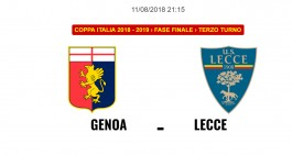 Genoa-Lecce: le formazioni ufficiali