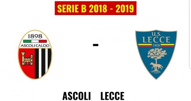 Ascoli-Lecce, formazioni ufficiali