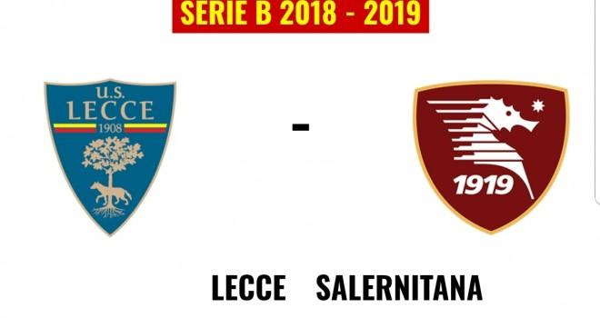 Lecce-Salernitana, formazioni ufficiali