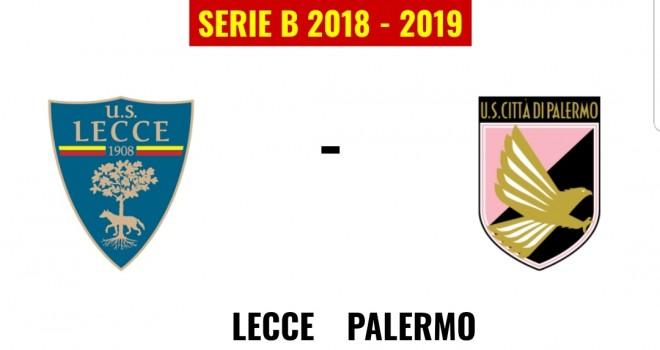 Lecce-Palermo: le formazioni ufficiali