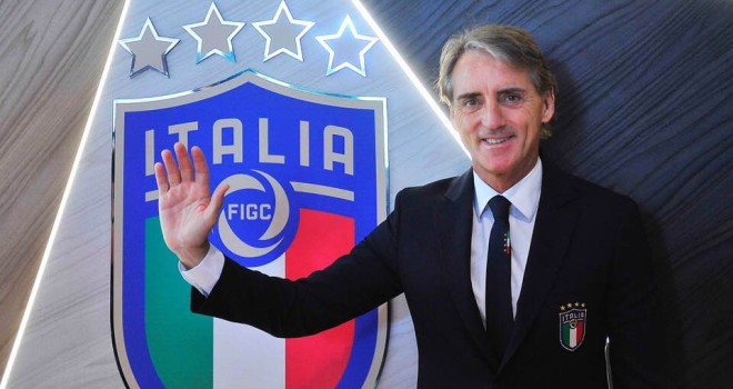 Il CT della Nazionale Roberto Mancini