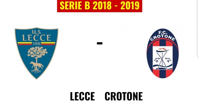 Lecce-Crotone, formazioni ufficiali