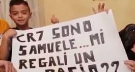 Il sogno infranto di Samuele: a Torino per CR7, cartellone cestinato