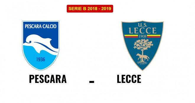 Pescara-Lecce, formazioni ufficiali
