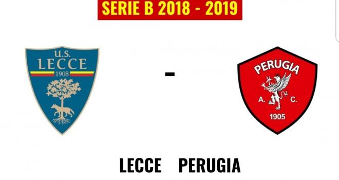 Lecce-Perugia formazioni ufficiali