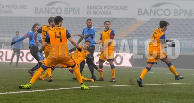 Novara-Pisa 2-2, un altro pareggio per gli azzurri
