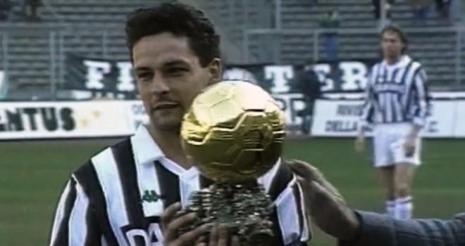 R. Baggio con il Pallone d'Oro