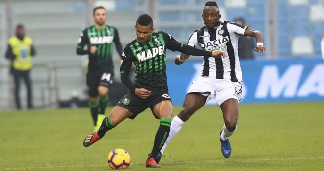 Sassuolo-Udinese 0-0, emozioni col contagocce a Reggio Emilia