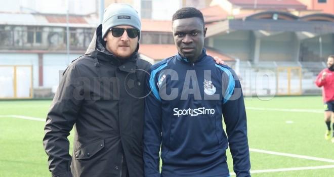 Il pres. G. Boniello con Amadou Jatta