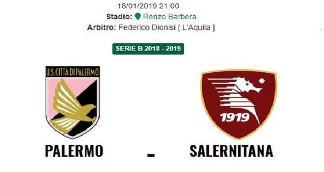Palermo-Salernitana, le formazioni ufficiali: tanti cambi per Gregucci