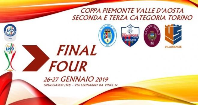 Coppa 2^/3^ Cat Torino: gli abbinamenti delle final four di Grugliasco