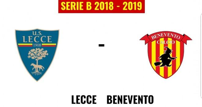 Lecce-Benevento: le formazioni ufficiali
