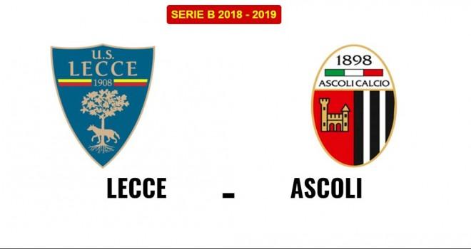 Lecce-Ascoli, formazioni ufficiali