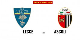 Lecce-Ascoli: le formazioni ufficiali