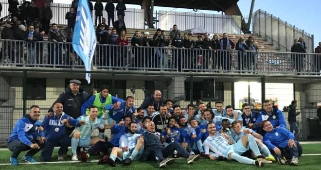 Il Brienza festante per la Coppa Italia