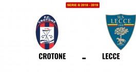 Crotone-Lecce: le formazioni ufficiali