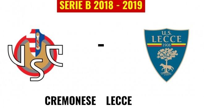 Cremonese-Lecce formazioni ufficiali
