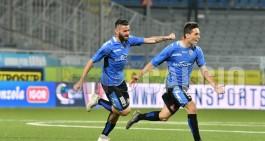 Novara-Entella 1-2, rimonta di rigore per la capolista