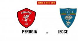 Perugia-Lecce: le formazioni ufficiali