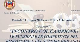 Domani seminario a Salerno sul settore giovanile con Vizzino e Galli