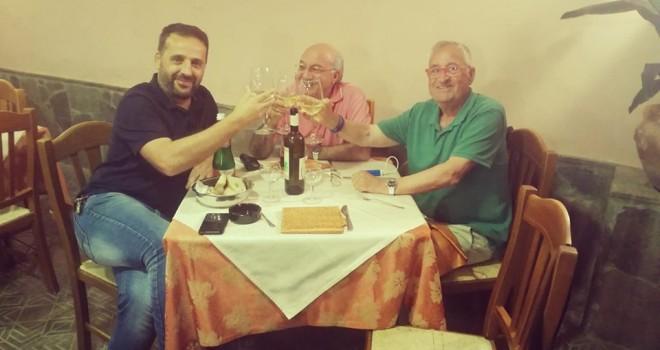Mr Scagliarini con Del Prete e Caputo