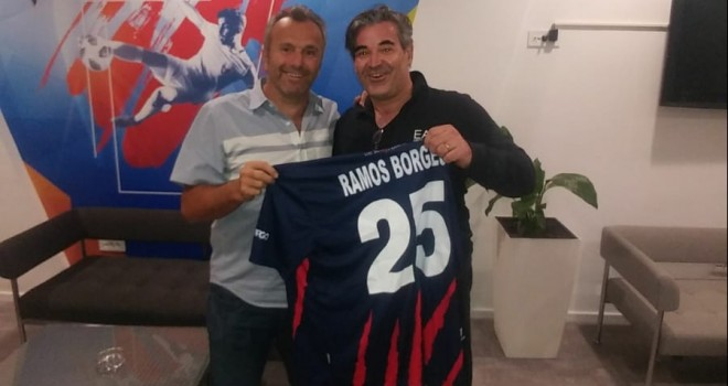 Il prof Santarsiero con Savicevic