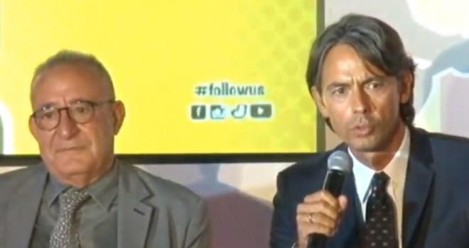 Il Pres. O. Vigorito e mr. P. Inzaghi