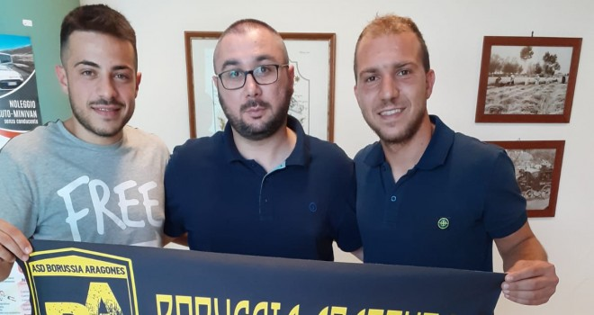 Petronzi e D'Onofrio dopo le firme