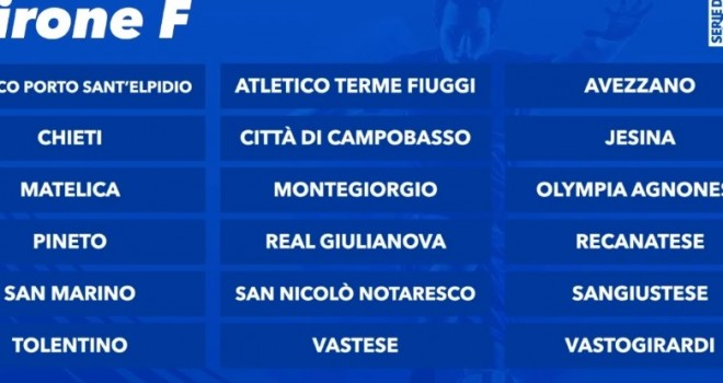 Il girone F di Serie D